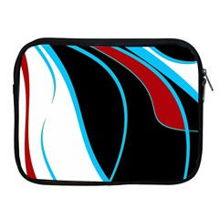 Blue, Red, Black And White Design Apple iPad 2/3/4 Zipper Cases