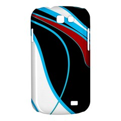 Blue, Red, Black And White Design Samsung Galaxy Express I8730 Hardshell Case