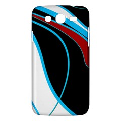 Blue, Red, Black And White Design Samsung Galaxy Mega 5.8 I9152 Hardshell Case