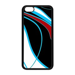 Blue, Red, Black And White Design Apple iPhone 5C Seamless Case (Black)