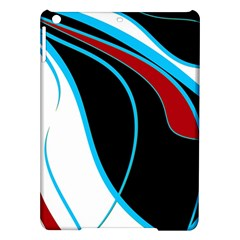 Blue, Red, Black And White Design iPad Air Hardshell Cases