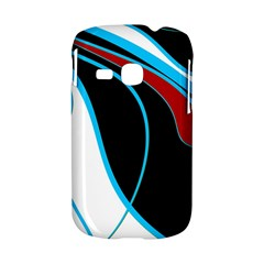 Blue, Red, Black And White Design Samsung Galaxy S6310 Hardshell Case