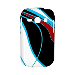 Blue, Red, Black And White Design Samsung Galaxy S6810 Hardshell Case