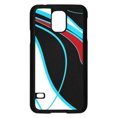 Blue, Red, Black And White Design Samsung Galaxy S5 Case (black)