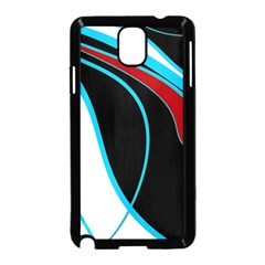 Blue, Red, Black And White Design Samsung Galaxy Note 3 Neo Hardshell Case (Black)