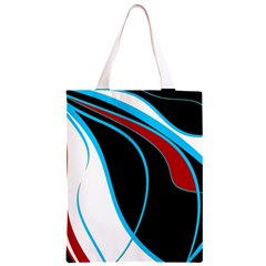 Blue, Red, Black And White Design Classic Light Tote Bag