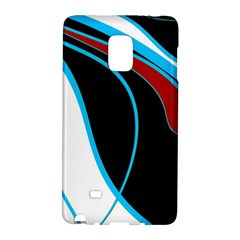 Blue, Red, Black And White Design Galaxy Note Edge