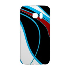 Blue, Red, Black And White Design Galaxy S6 Edge