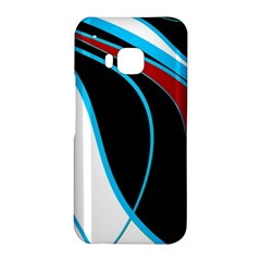 Blue, Red, Black And White Design HTC One M9 Hardshell Case