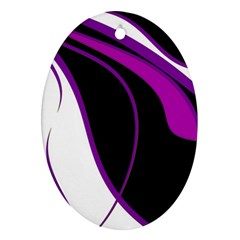 Purple Elegant Lines Ornament (Oval)