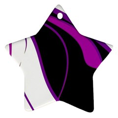 Purple Elegant Lines Ornament (Star)