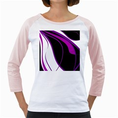 Purple Elegant Lines Girly Raglans
