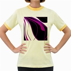 Purple Elegant Lines Women s Fitted Ringer T-Shirts