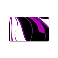 Purple Elegant Lines Magnet (Name Card)