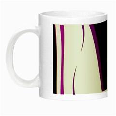 Purple Elegant Lines Night Luminous Mugs