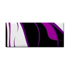Purple Elegant Lines Hand Towel