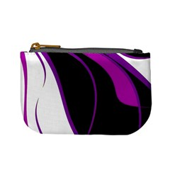 Purple Elegant Lines Mini Coin Purses