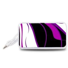 Purple Elegant Lines Portable Speaker (White)