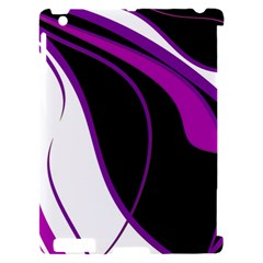 Purple Elegant Lines Apple iPad 2 Hardshell Case (Compatible with Smart Cover)