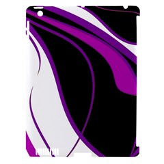 Purple Elegant Lines Apple iPad 3/4 Hardshell Case (Compatible with Smart Cover)