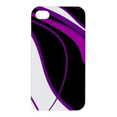 Purple Elegant Lines Apple iPhone 4/4S Premium Hardshell Case