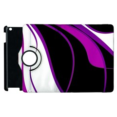 Purple Elegant Lines Apple iPad 3/4 Flip 360 Case