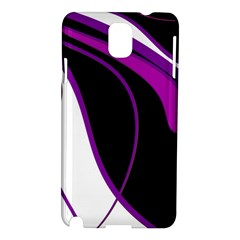 Purple Elegant Lines Samsung Galaxy Note 3 N9005 Hardshell Case