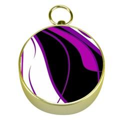 Purple Elegant Lines Gold Compasses