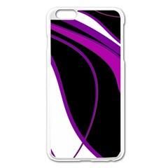 Purple Elegant Lines Apple iPhone 6 Plus/6S Plus Enamel White Case