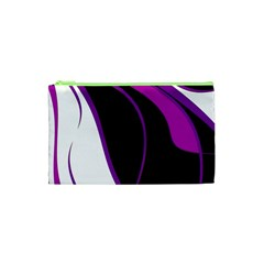Purple Elegant Lines Cosmetic Bag (XS)