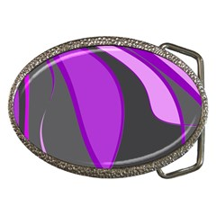 Purple Elegant Lines Belt Buckles
