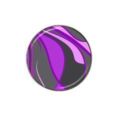 Purple Elegant Lines Hat Clip Ball Marker