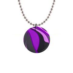 Purple Elegant Lines Button Necklaces