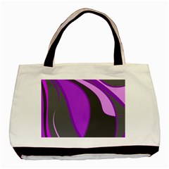 Purple Elegant Lines Basic Tote Bag (Two Sides)