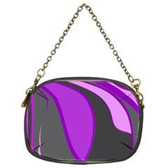 Purple Elegant Lines Chain Purses (Two Sides)