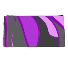 Purple Elegant Lines Pencil Cases
