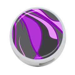 Purple Elegant Lines 4-Port USB Hub (One Side)