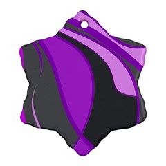 Purple Elegant Lines Ornament (Snowflake)
