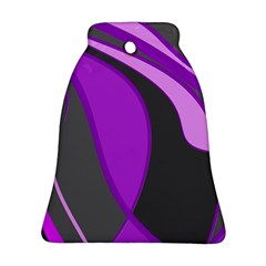 Purple Elegant Lines Bell Ornament (2 Sides)