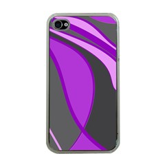 Purple Elegant Lines Apple iPhone 4 Case (Clear)