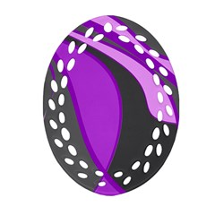 Purple Elegant Lines Ornament (Oval Filigree)