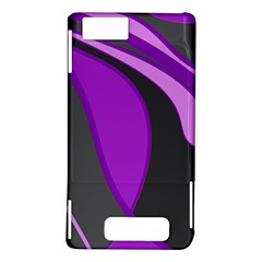Purple Elegant Lines Motorola DROID X2