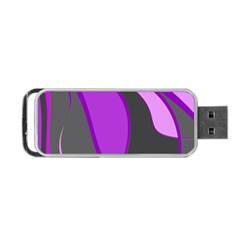 Purple Elegant Lines Portable USB Flash (Two Sides)