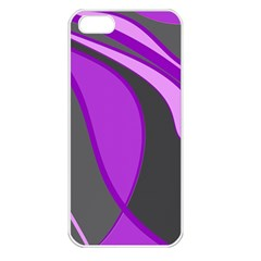Purple Elegant Lines Apple iPhone 5 Seamless Case (White)