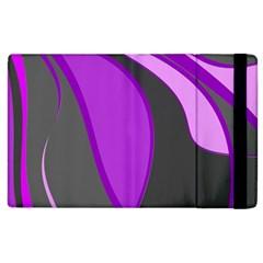 Purple Elegant Lines Apple iPad 3/4 Flip Case