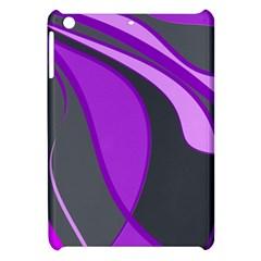 Purple Elegant Lines Apple iPad Mini Hardshell Case