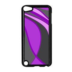 Purple Elegant Lines Apple iPod Touch 5 Case (Black)