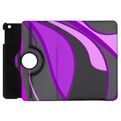 Purple Elegant Lines Apple iPad Mini Flip 360 Case