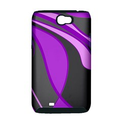 Purple Elegant Lines Samsung Galaxy Note 2 Hardshell Case (PC+Silicone)
