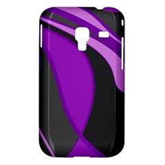 Purple Elegant Lines Samsung Galaxy Ace Plus S7500 Hardshell Case